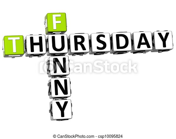 Stock Photo - 3D Funny Thursday Crossword - stock image, images ...