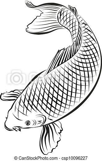 黄金鲤鱼手绘插画