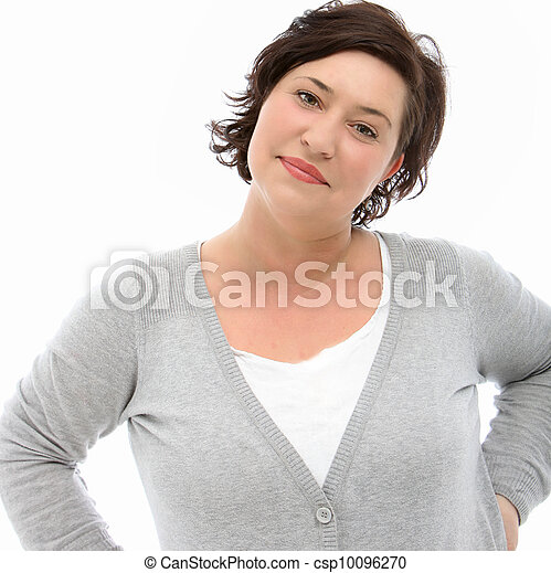 Self-assured middle-aged woman - csp10096270
