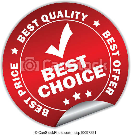 Best choice vector sticker - csp10097281