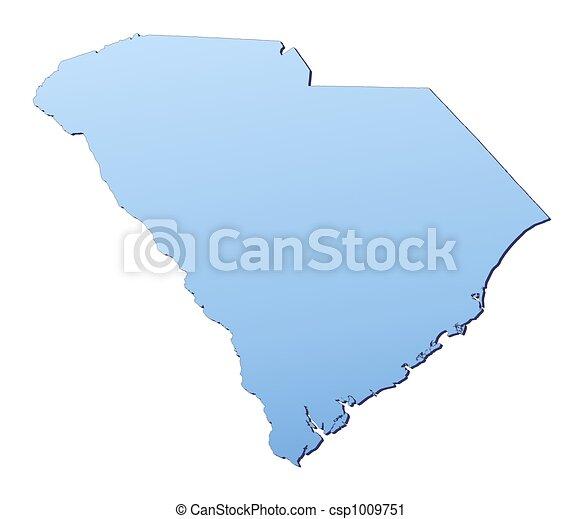 South Carolina(USA) map - csp1009751