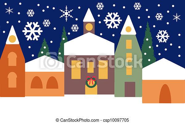 Christmas village - csp10097705