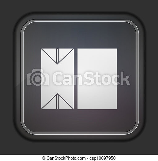 Vector version. packaging of milk icon. Eps 10 illustration. Easy to edit - csp10097950