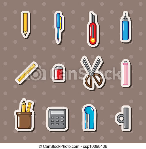 stationery stickers - csp10098406