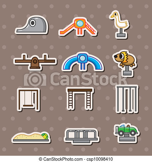 cartoon park playground stickers - csp10098410