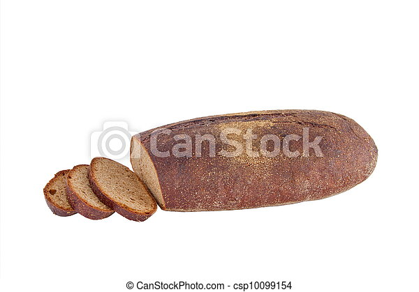 Image of dietary loaf of rye bread - csp10099154