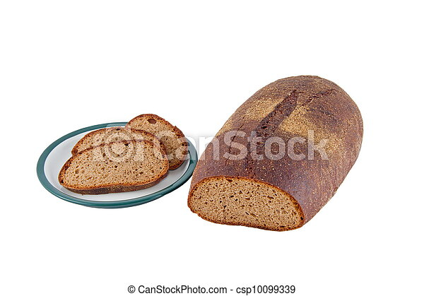 Image of dietary loaf of rye bread - csp10099339