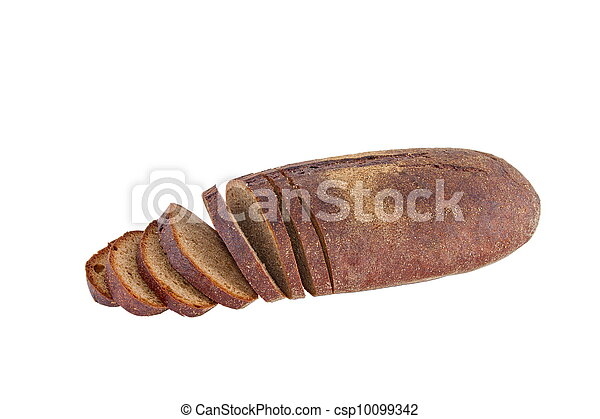 Image of dietary loaf of rye bread - csp10099342