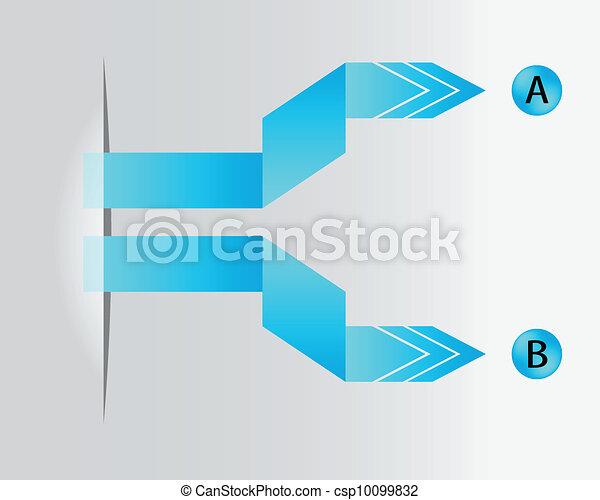 special blue paper origami arrows - csp10099832