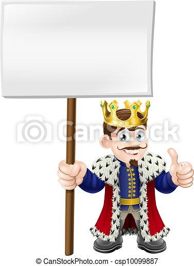 Thumbs up sign King - csp10099887