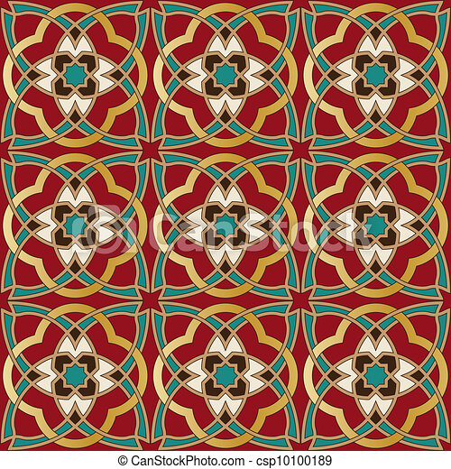 Arabic seamless pattern - csp10100189