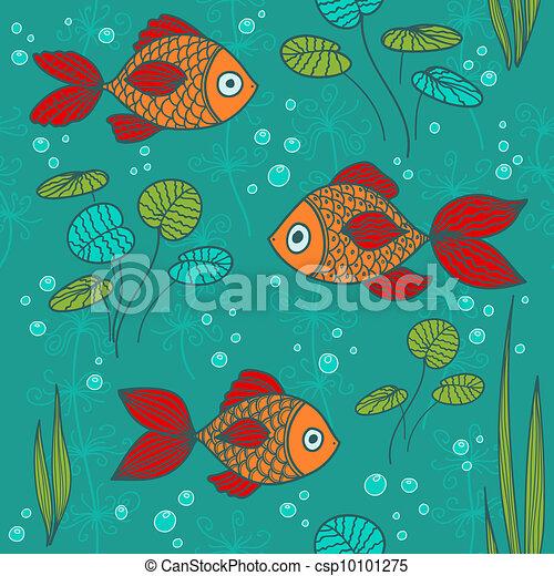 Vecteur poissons tang banque d 39 illustrations for Achat poisson etang