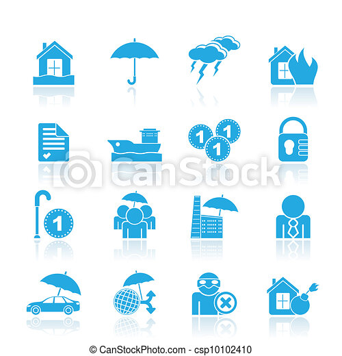Insurance and risk icons - csp10102410