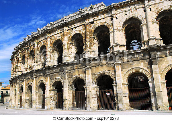 Roman arena in Nimes France - csp1010273