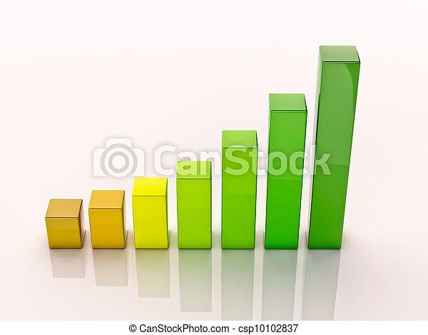 3d column chart - csp10102837