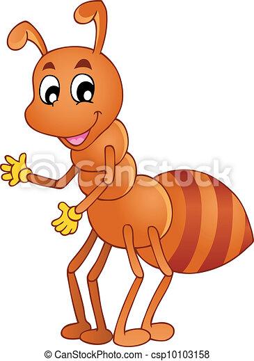 Cartoon smiling ant - csp10103158