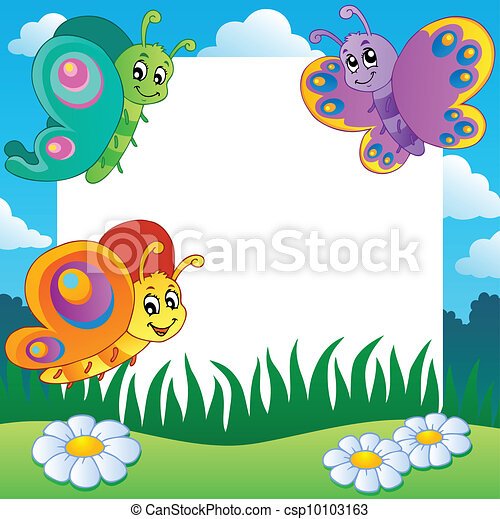 - Frame with bu... Free Clipart Downloads Butterflies