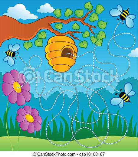 Bee theme maze - csp10103167