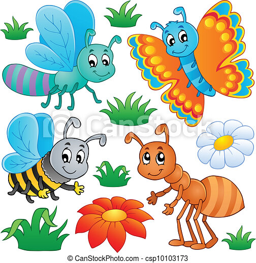 Cute insect drawing - photo#16