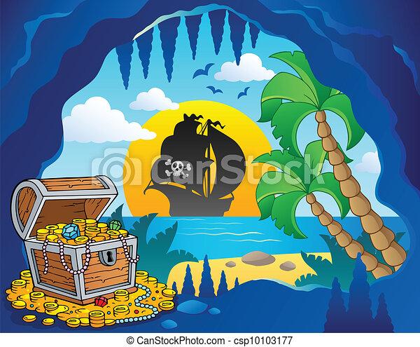 Pirate cove theme image 1 - csp10103177