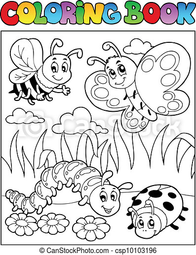 Coloring book bugs theme image 2 - csp10103196