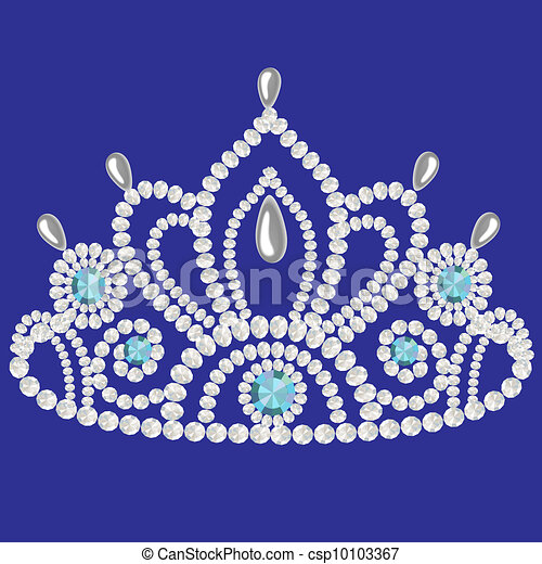 corona diadem feminine wedding  we turn blue - csp10103367