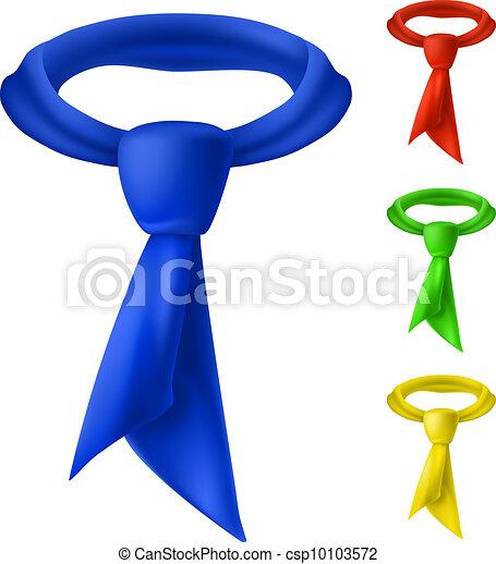 Four colorful tie. - csp10103572