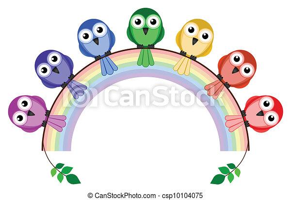 Rainbow colour birds - csp10104075