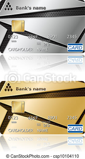Credit cards. Vector illustration. - csp10104110