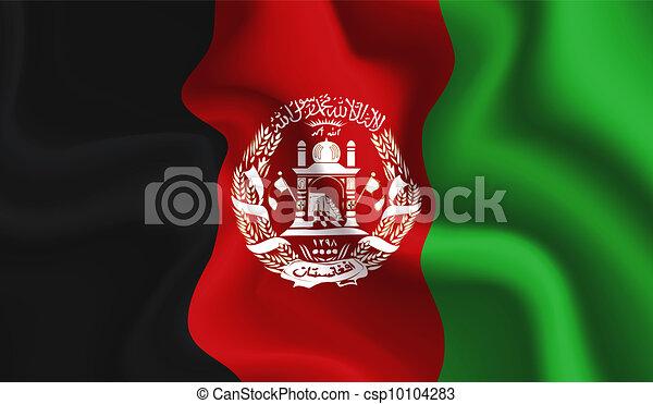 Afghanistan waving flag - csp10104283
