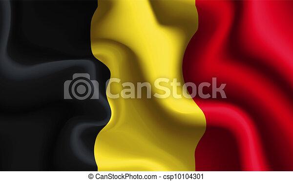 Belgium waving flag - csp10104301