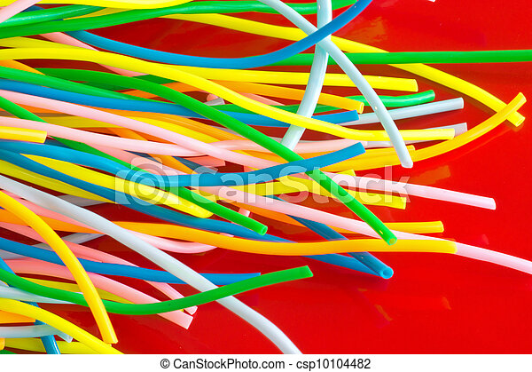 Colourful plastic cables - csp10104482