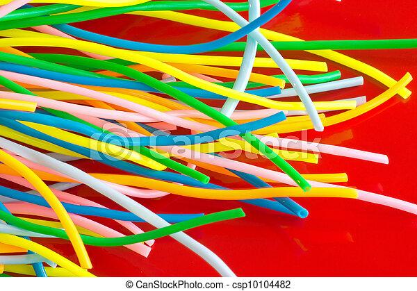 Colourful plastic cables - csp10104482