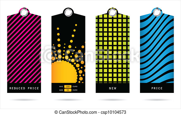 set of special trendy price tags for your shop - csp10104573