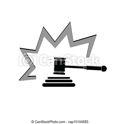 judge hammer illustration - csp10104583
