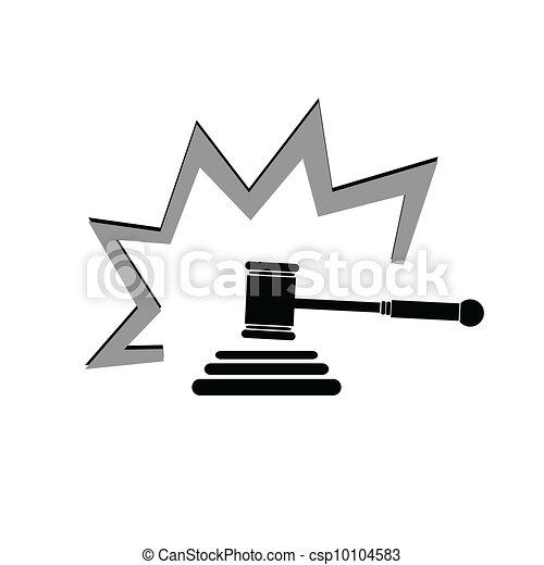 judge hammer illustration - csp10104583