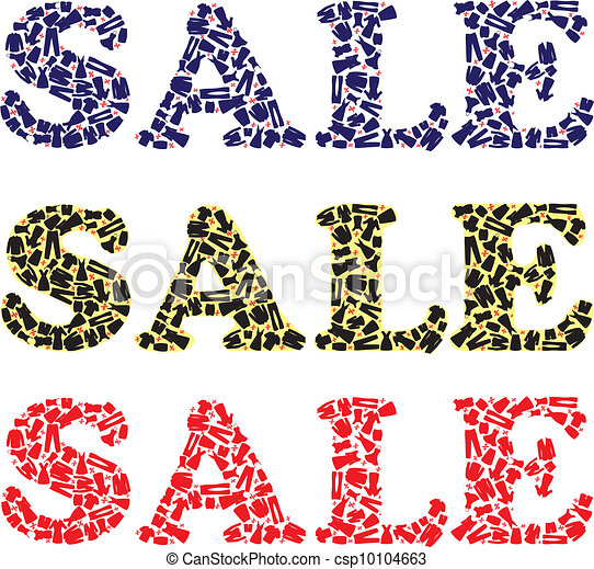 Sale sign for clothing stores - csp10104663