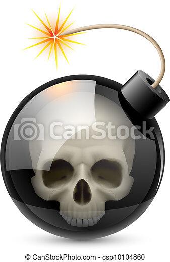 Bomb with Skull - csp10104860