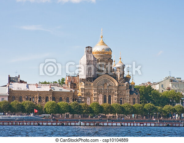 St. Petersburg. Church of the Assumption of the Blessed Virgin Mary in the courtyard Kozelskaya Vvedensky Optina - csp10104889