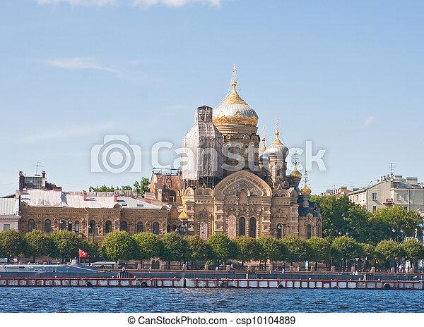 St. Petersburg. Church of the Assumption of the Blessed Virgin Mary in the courtyard Kozelskaya Vvedensky Optina - csp10104889