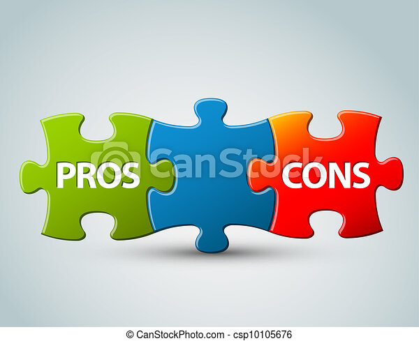 Vector pros and cons  model illustration - csp10105676