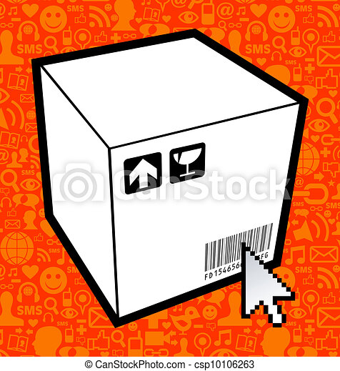 Logistic box icon - csp10106263