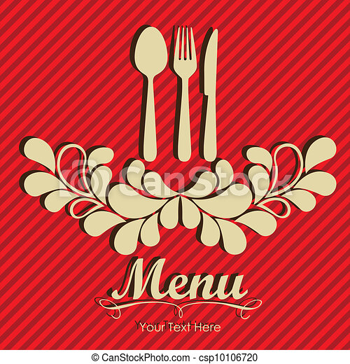 Elegant card for restaurant menu - csp10106720