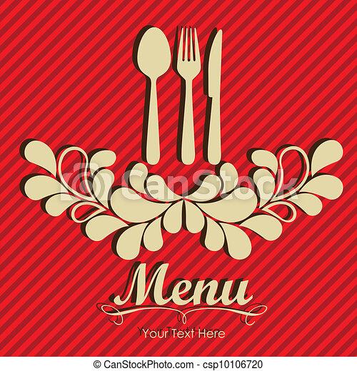 Elegant card for restaurant menu - csp10106720