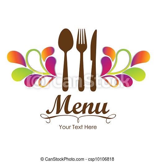 Vector clip art de elegante tarjeta restaurante men - Clipart cuisine gratuit ...