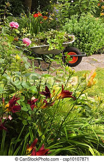 image de t fleurs jardin brouette nettoyage haut t csp10107871 recherchez des. Black Bedroom Furniture Sets. Home Design Ideas
