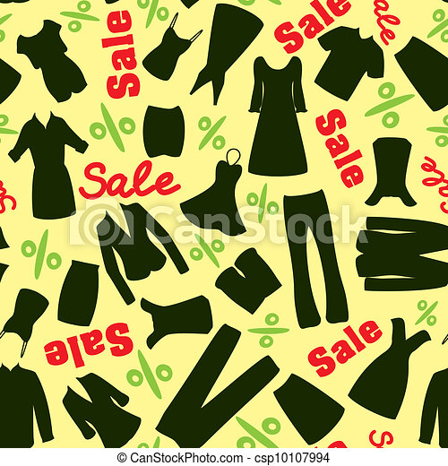 Pattern of clearance sale in the clothing store - csp10107994
