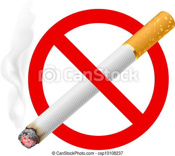 The sign no smoking - csp10108237