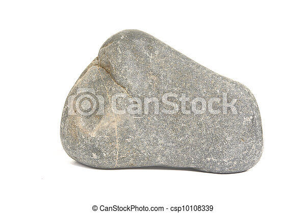 Rock boulder on white - csp10108339