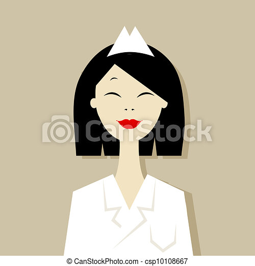 Vector cartoon of asian doctor - csp10108667
